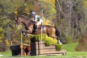Briana and Sutterby Good, prelim at the 2002 Virginia Horse Trails