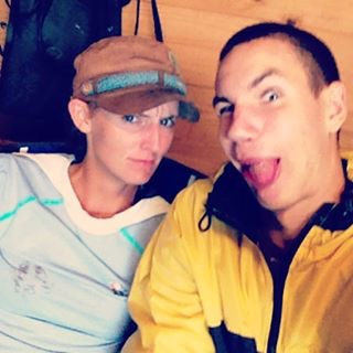 Briana and Josiah killing time in a rain delay 2014