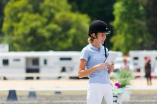 Briana test calling in between rides at DIS 2013
