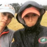 Michelle and Briana in the rain