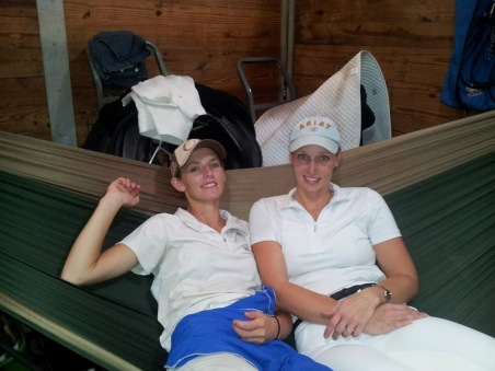 Briana and Michelle in the hammock